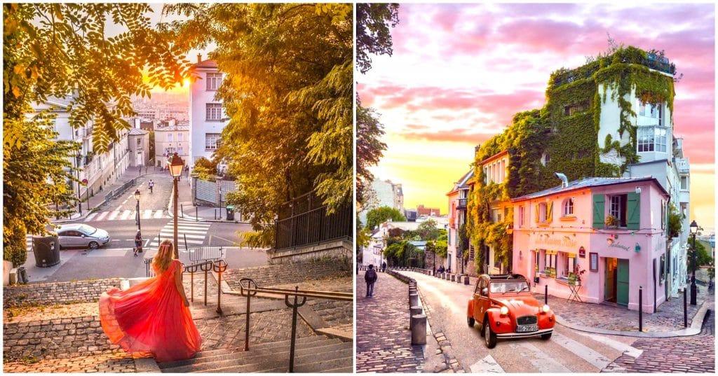 Plus belles balades romantiques Paris