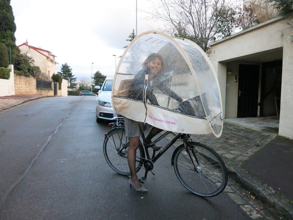 roofbi protection vélo pluie accessoire sécurité paris