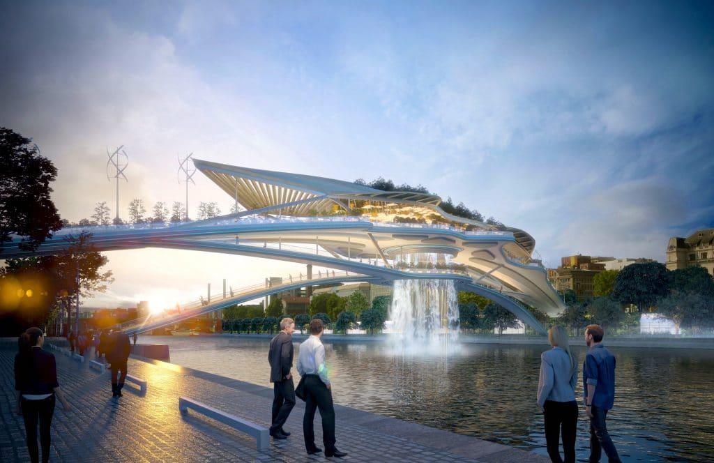 Paris : un pont végétalisé bientôt suspendu au dessus de la Seine ?