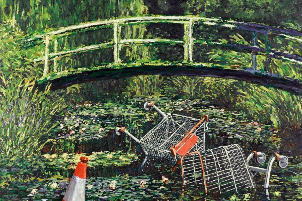 Show Me The Monet Banksy Detourne Les Celebres Nympheas De Monet Paris Secret