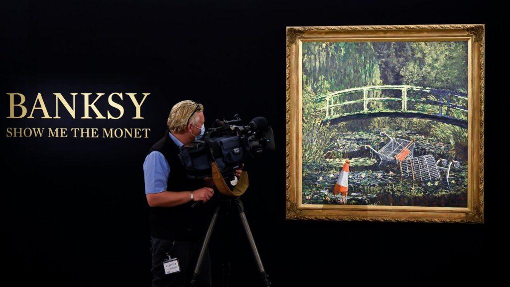 « Show Me the Monet » : Banksy détourne les célèbres nymphéas de Monet !
