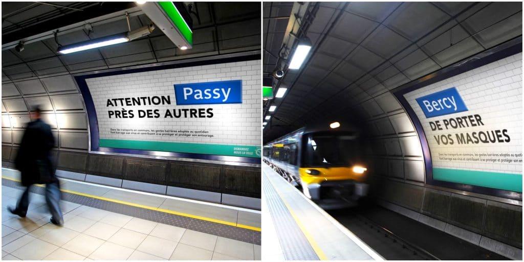 Paris : les noms de 5 stations de métro détournés pour une sensibilisation ludique aux gestes barrières !
