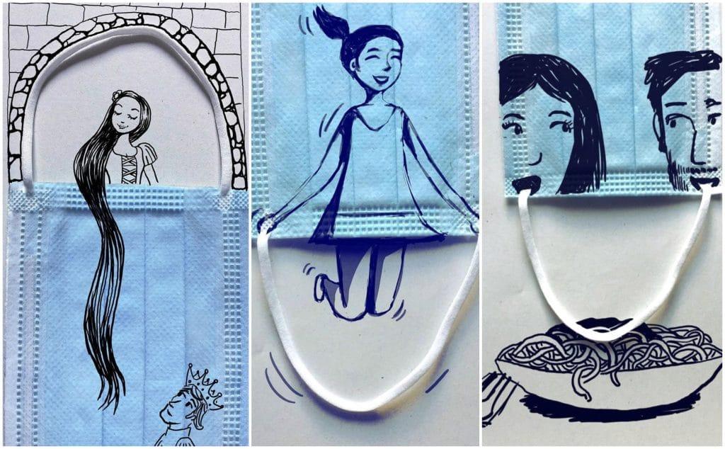 Coronavirus : cet illustrateur intègre les masques à ses créations artistiques !