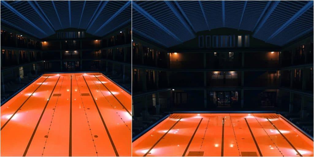 Paris : pour Halloween, la piscine de l'Hôtel Molitor tout d'orange vêtue !
