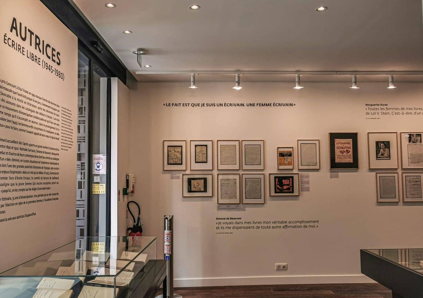 galerie gallimard exposition paris autrices ecrire libre