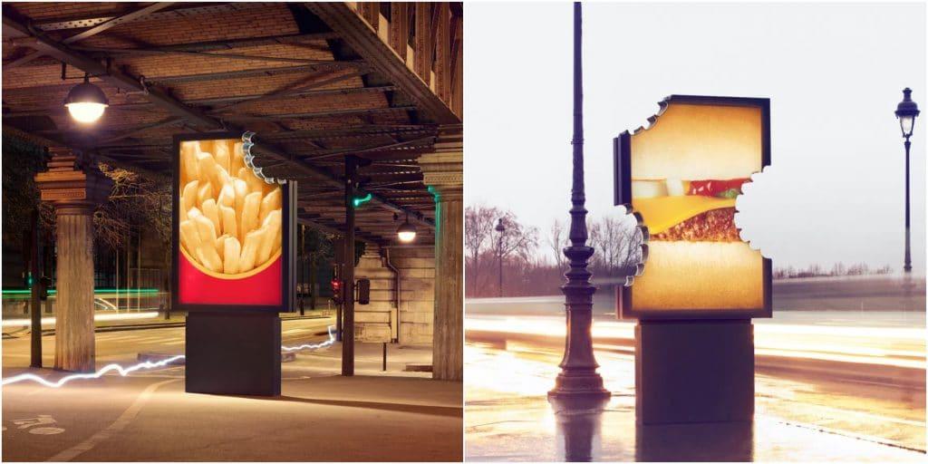 Paris : McDonald's dissémine 3 panneaux d'affichage croqués dans les rues de la capitale !