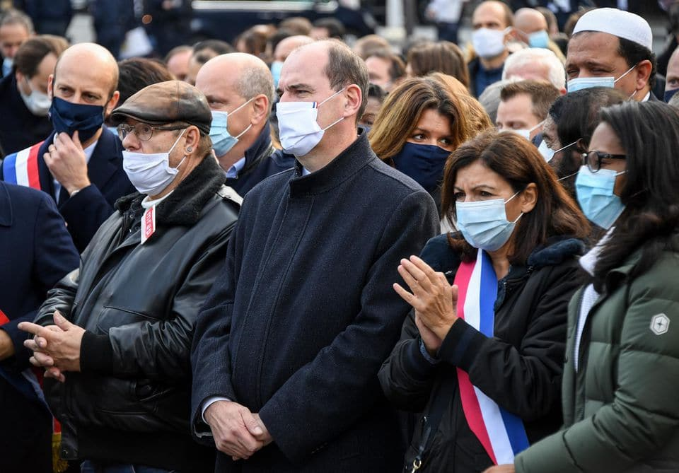Hommage Samuel Paty place de la République Paris