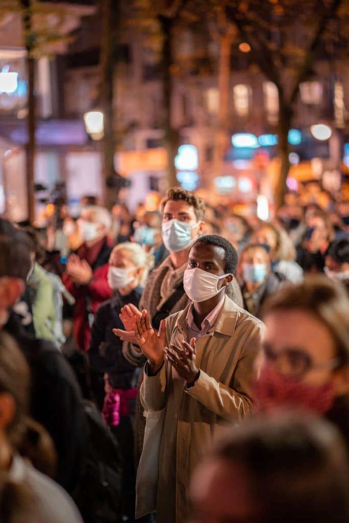 Cérémonie hommage Samuel Paty Sorbonne Paris en images