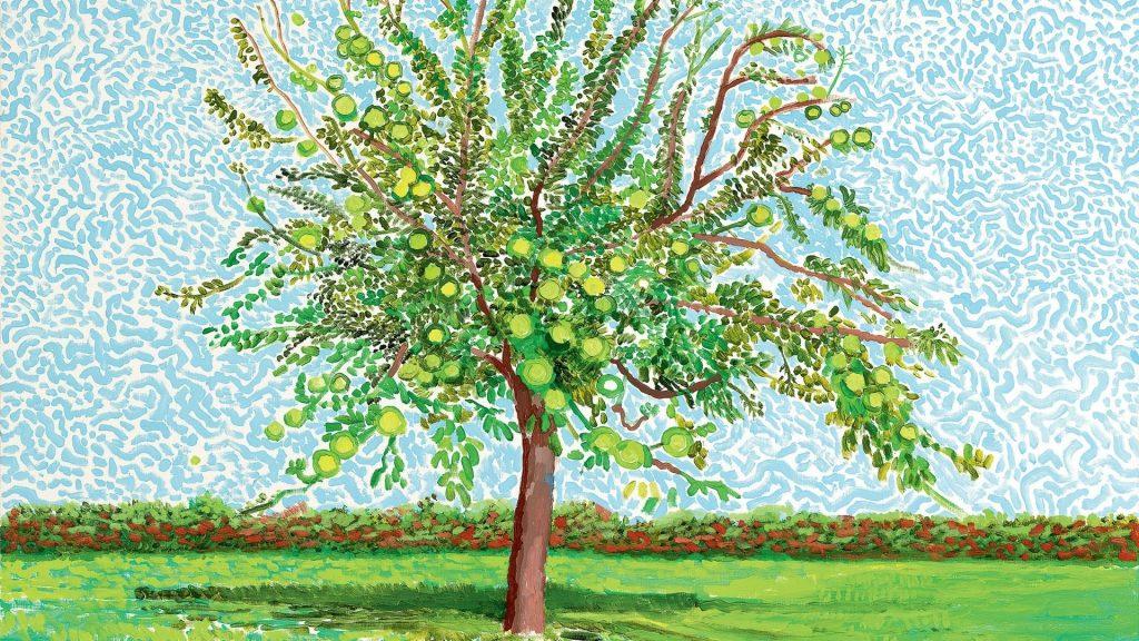 david hockney apple tree normandie galerie lelong paris exposition