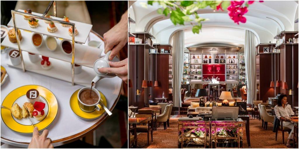 Nouveau tea time Paris Royal Monceau x Fendi