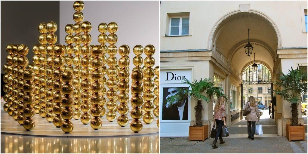 «219 Sphères» une oeuvre immersive dorée s'installe au Village Royal !