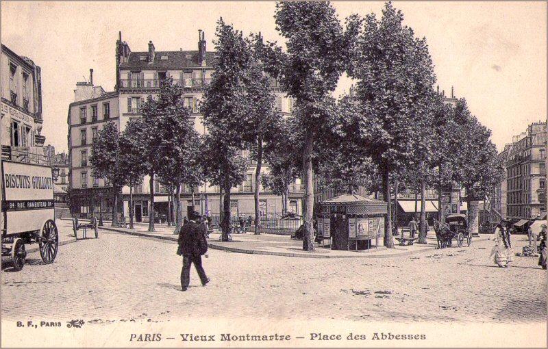 place des abbesses paris d'antan photo ancienne