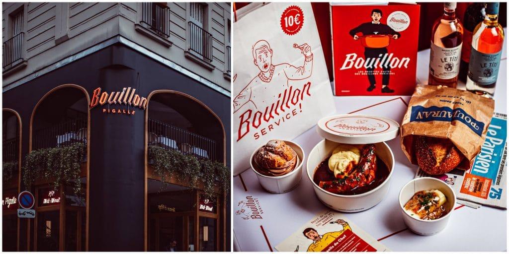 Bouillon Pigalle menu 10 euros reconfinement