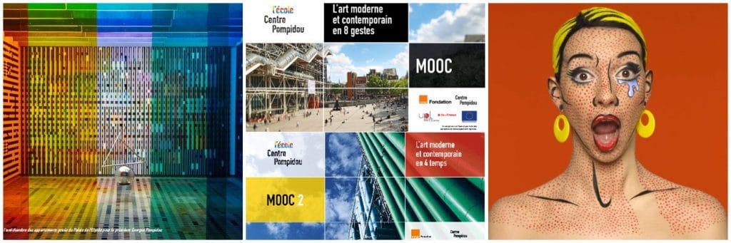 Cours d'art contemporain gratuits Centre Pompidou Paris confinement
