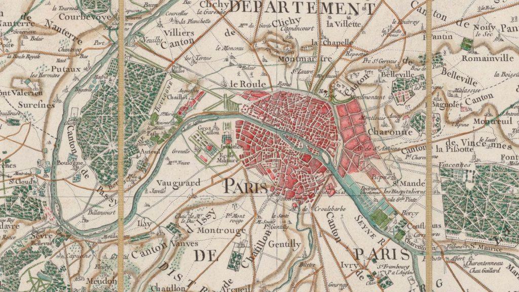 carte paris ancienne cassini