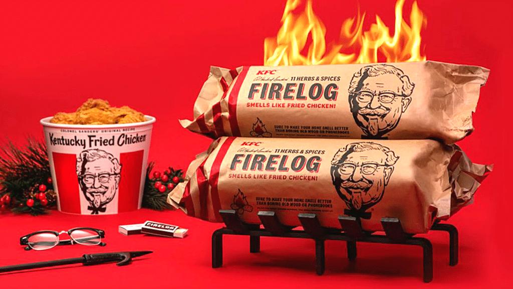 Noël KFC bûche de bois senteur poulet frit