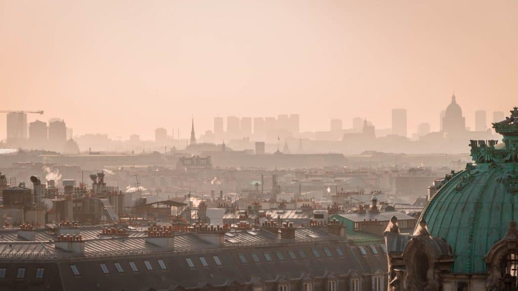 pollution paris air confinement