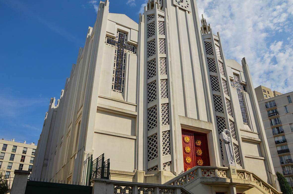 Eglise Saint-Jean-de-Bosco art déco architecture paris