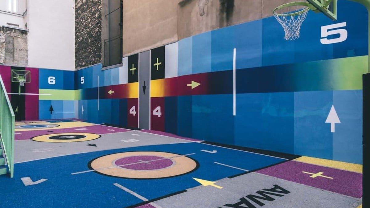 terrain de basket pigalle nike rue duperré paris