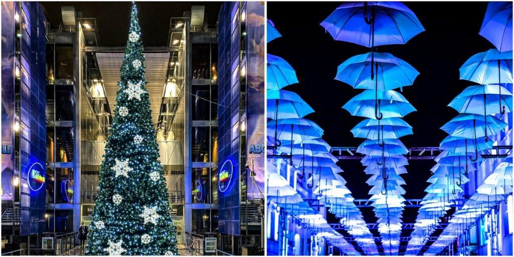 Noël 2020 Ciel de Parapluies scintillants Bercy Village reporté 2021