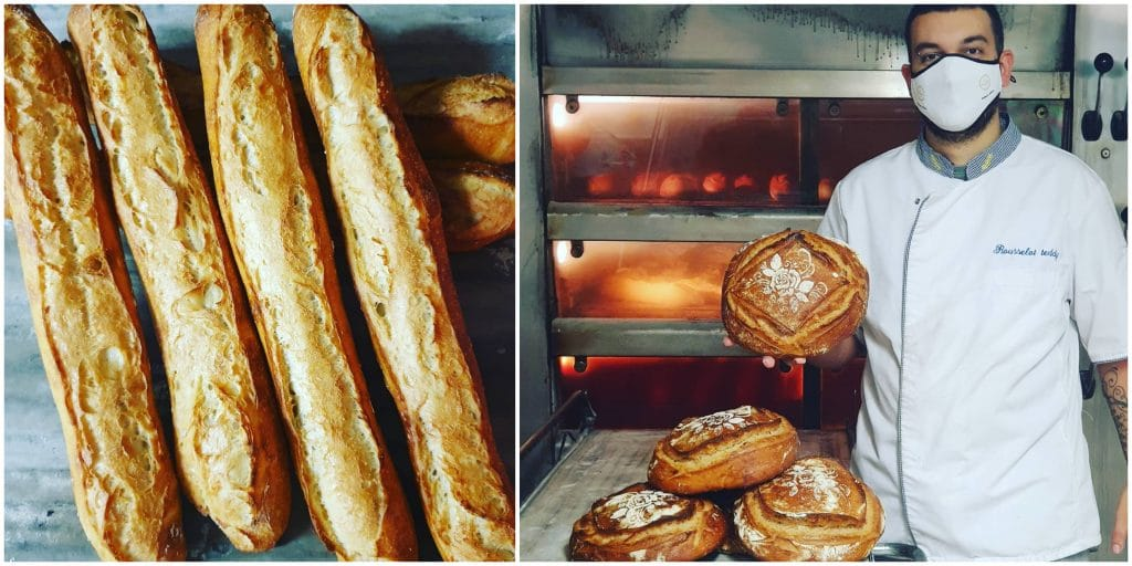 Boulanger attestation de déplacement sachet baguettes