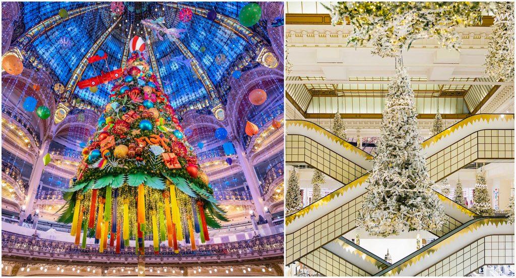 Grands magasins parisiens décors de Noël 2020