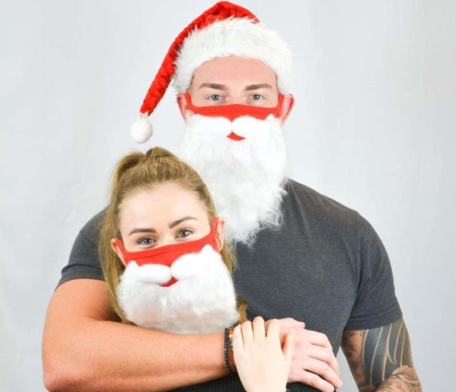 masque pere noel covid fausse barbe blanche etsy