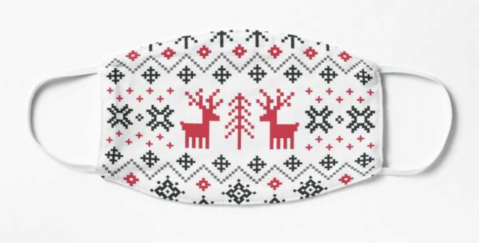 masque covid ugly sweater renne noel