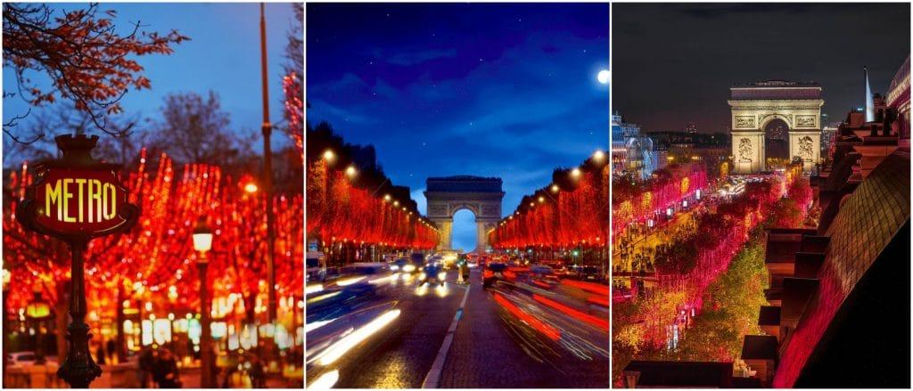 Plus belles illuminations de Noël rues de Paris 2020