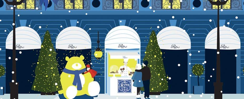 Comptoir de Noël Ritz Paris François Perret