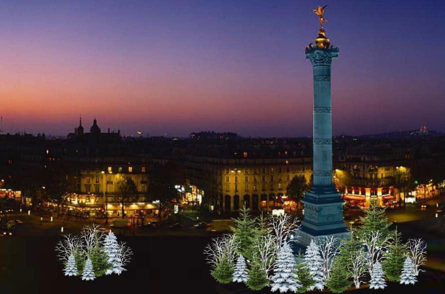 Paris scintille Ville de Paris illuminations Noël place de la Bastille 2020