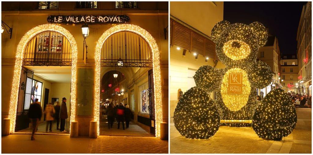 Illuminations de Noël de retour Village Royal Paris 5 décembre