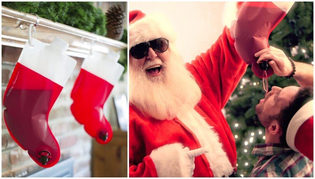 Santa Flask chaussette de Noël Cubi insolite