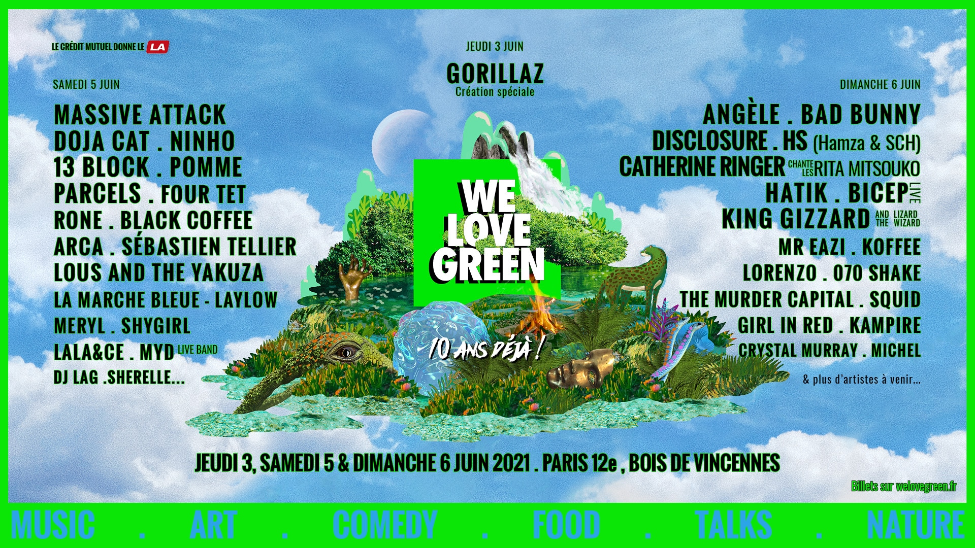 we love green 2021 programmation paris