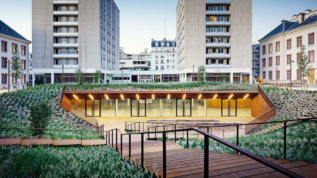 ancienne caserne lourcine université paris I droit rénovation végétalisée