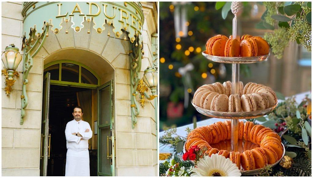Maison Ladurée x Jean-François Piège collaboration Noël 2020 2 macarons