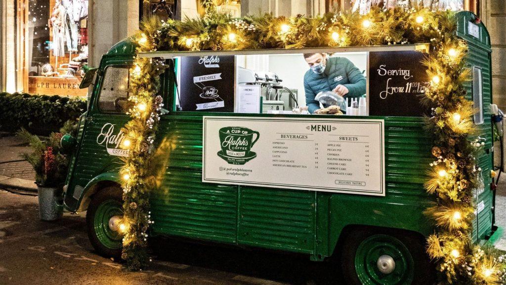 ralph lauren ralph coffee truck noel paris illuminations décorations