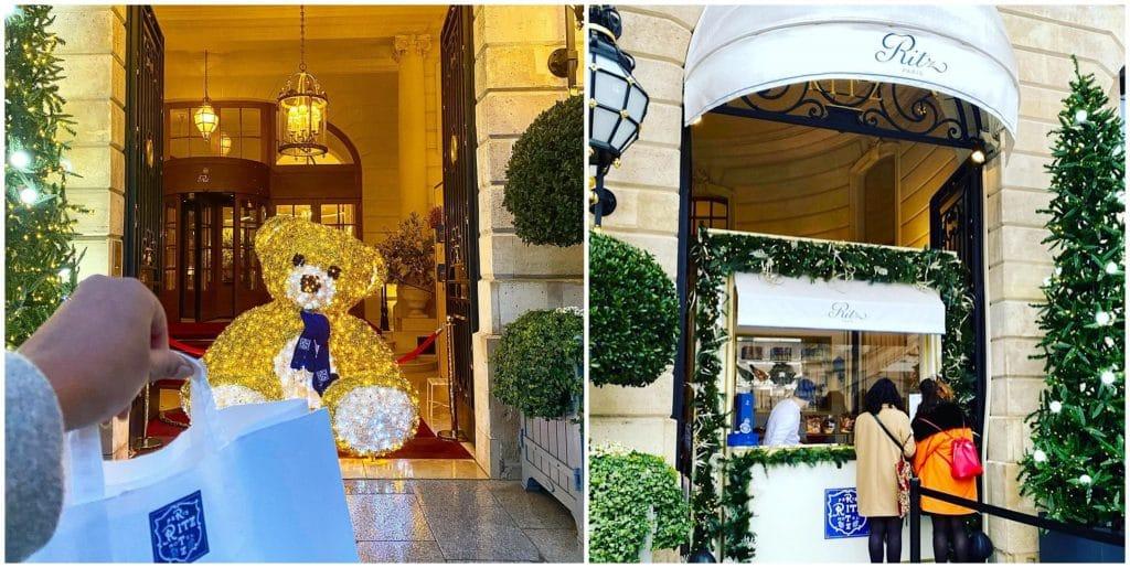 Comptoir de Noël gourmand éphémère Ritz Paris 2020 place Vendôme François Perret