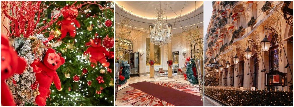 Décorations de Noël des grands Hôtels parisiens 2020