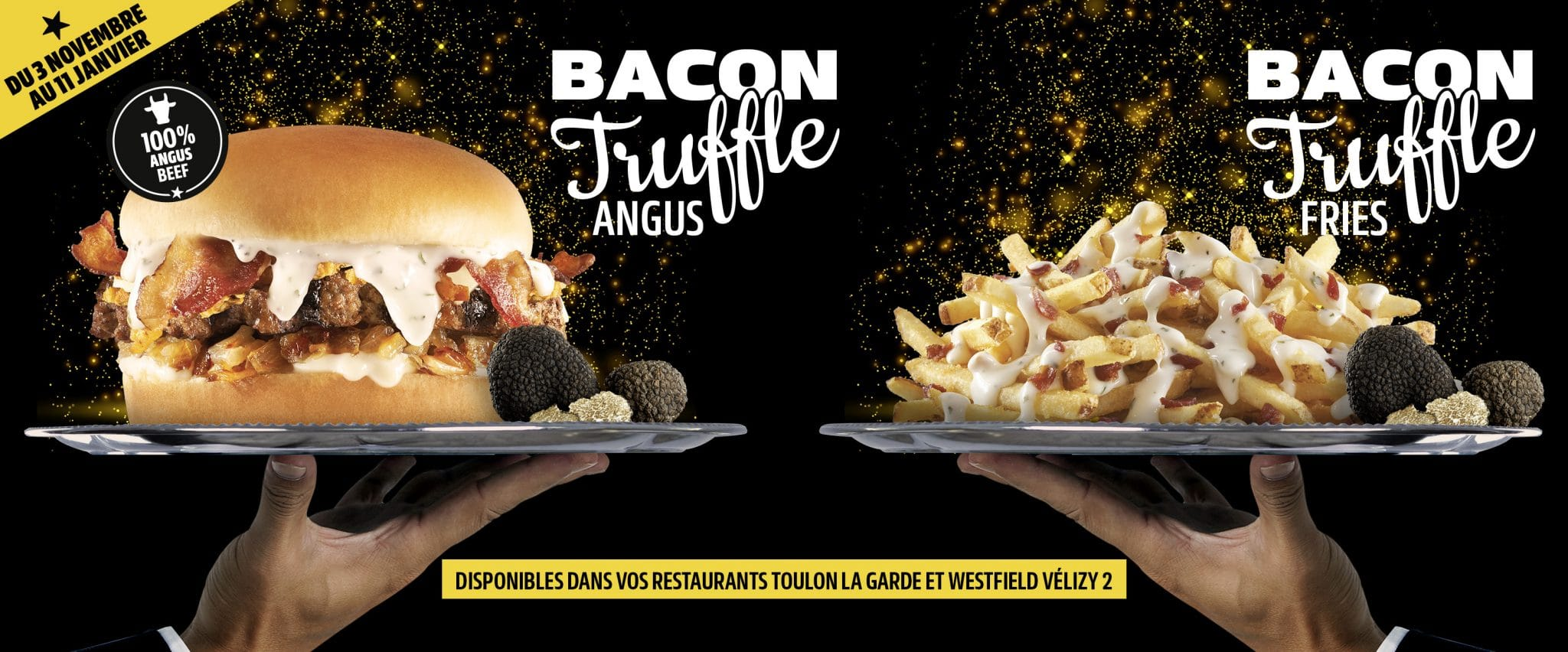 bacon truffle burger carl's jr fast food noel fêtes menu vélizy 2