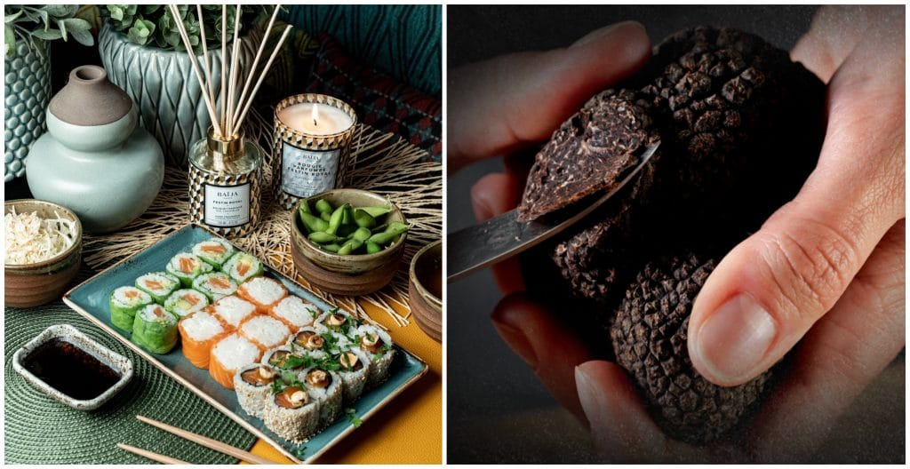 Côté sushi x Plantin Noël sushis à la truffe édition limitée