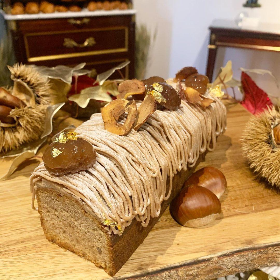 cake aux marrons julien alvarez noel bristol paris palace
