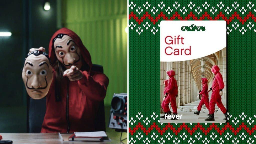 fever la casa de papel the experience netflix gift card carte cadeau noel 2020