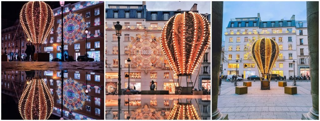 Expériences lumineuses féériques Paris Noël décembre 2020