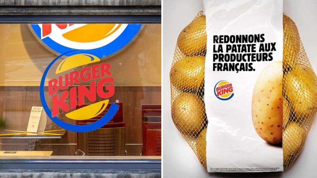 burger king patates cadeau client soutien producteurs publicité com