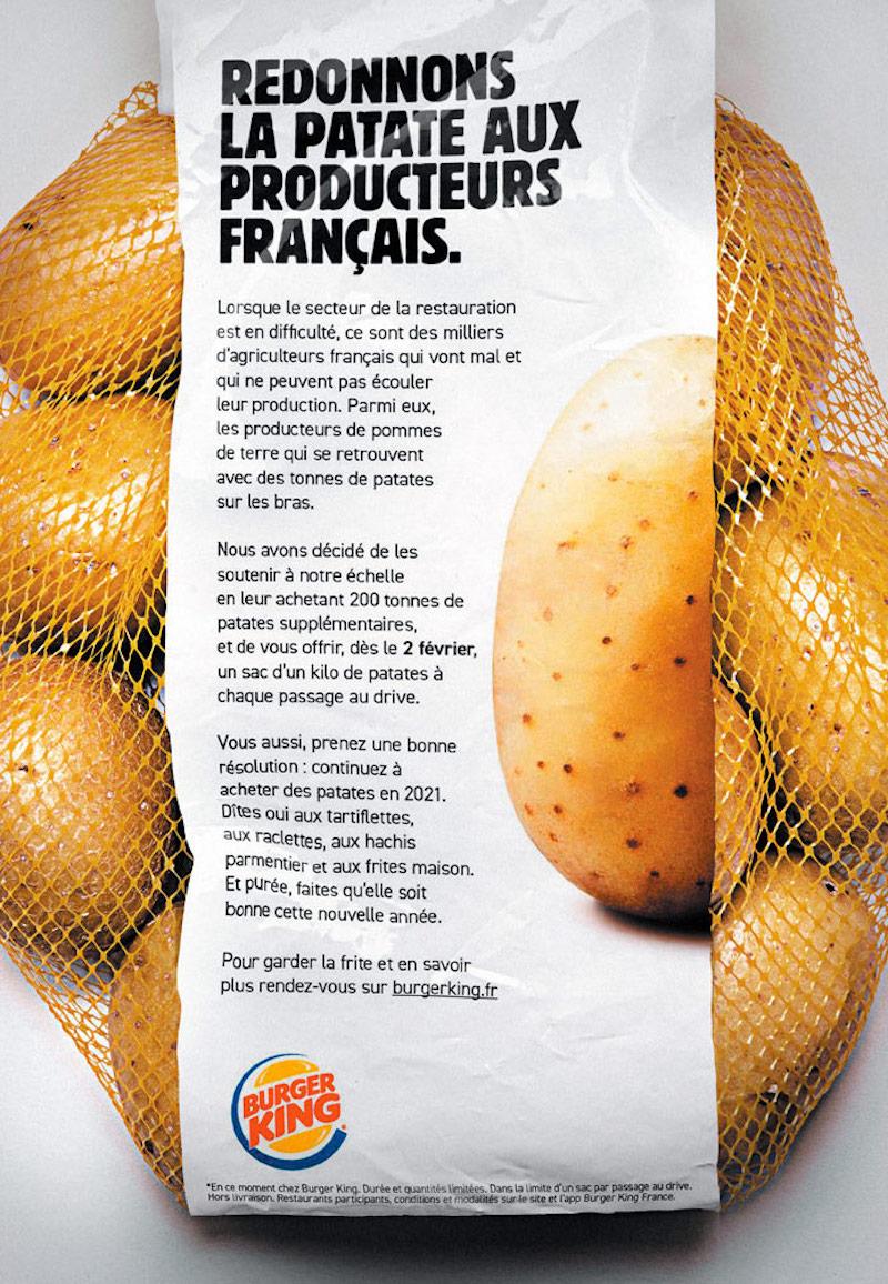 burger-king-pomme-de-terre-patate promotion publicité