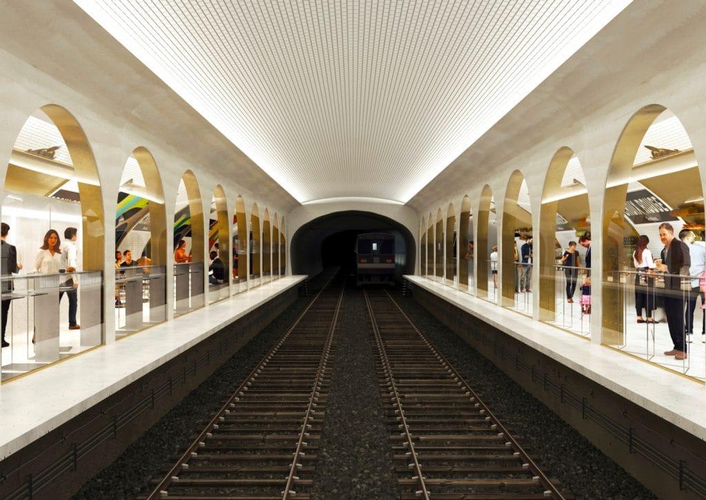 2021 réinventer Paris Terminus station de métro Croix-Rouge Halle gourmande restaurant bar cocktails marché