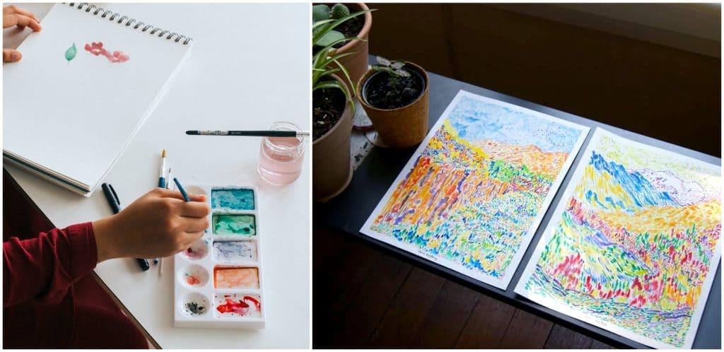 Dessin peinture ateliers créatifs en ligne 2021
