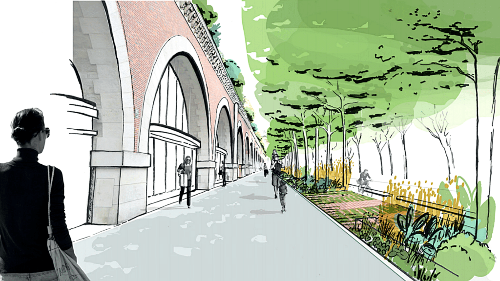 Paris 2021 Viaduc des Arts se végétalise