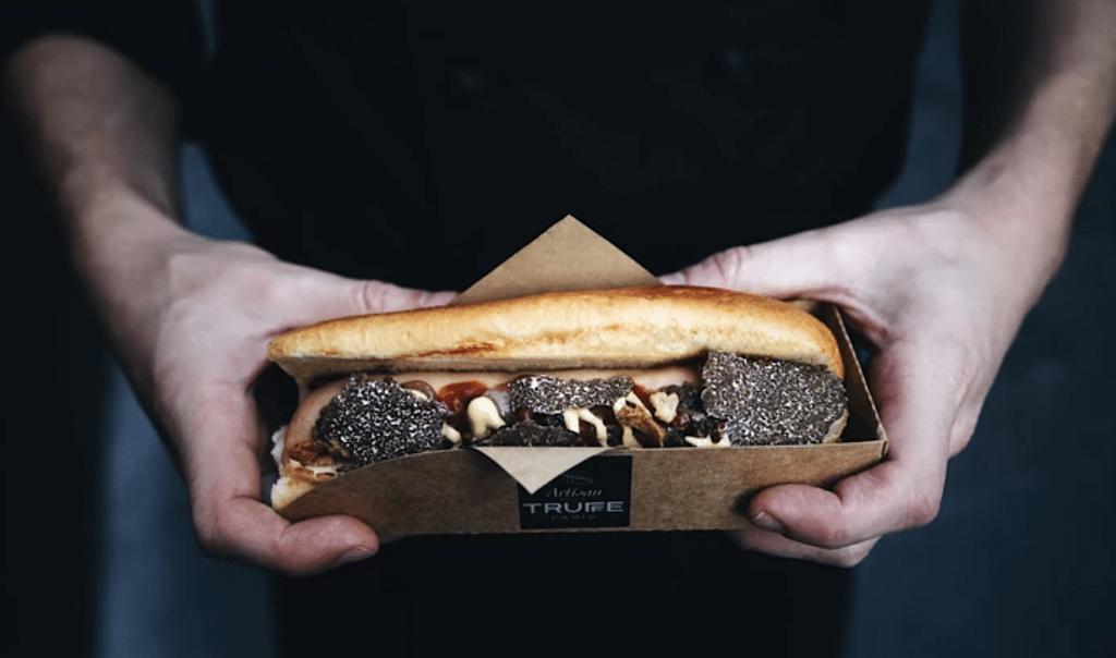 Hot-Truffe Hot dog truffe Artisan de la Truffe la Halle des gourmets recette